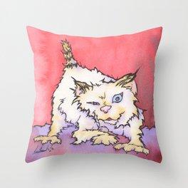Scream the Cat Throw Pillow