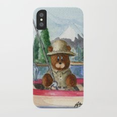 Fisherman Bear iPhone X Slim Case