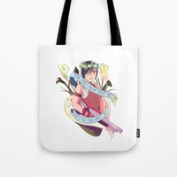 """resident evil Tote Bags featuring Resident Evil 2 - """"22 - Ada"""" by MIU/Manzo"""