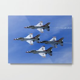 USAF Thunderbirds Diamond 4 Metal Print