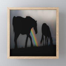 Silhouette of Color Framed Mini Art Print