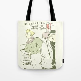 "Henri de Toulouse-Lautrec ""The Dressmaker's Little Errand Girl (Le petit trottin)"" Tote Bag"
