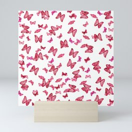 Pink Butterflies Print, Nature print Mini Art Print