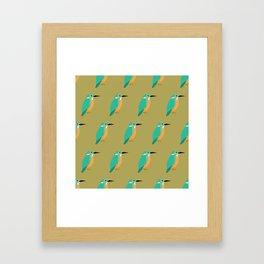 Colourful kingfishers Framed Art Print