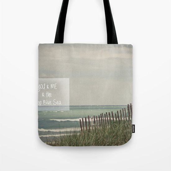 You & Me & The Deep Blue Sea Tote Bag