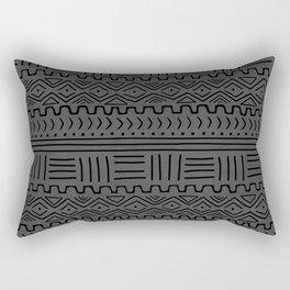 Mud Cloth on Linen Rectangular Pillow