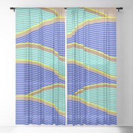 Happy Times - Neon Waves Sheer Curtain