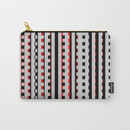 Rectangles Design red black Carry-All Pouch