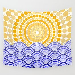 LIGHT OF DAWN (abstract tropical) Wall Tapestry