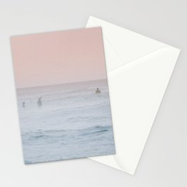 Pink Sky Ocean Stationery Cards