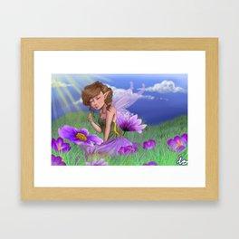 Violet Meadows Framed Art Print