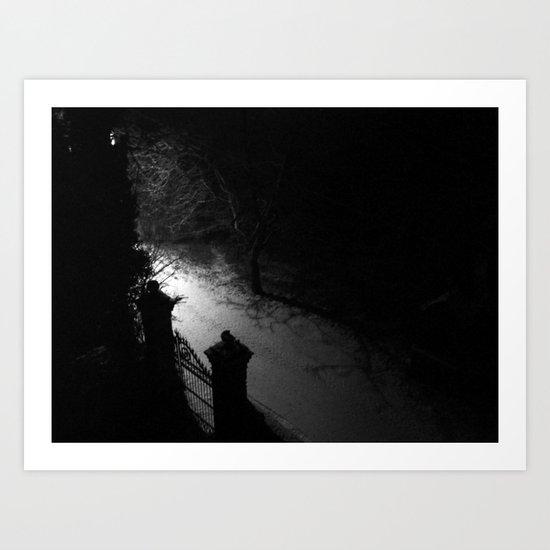 A Dark Winter Night Art Print