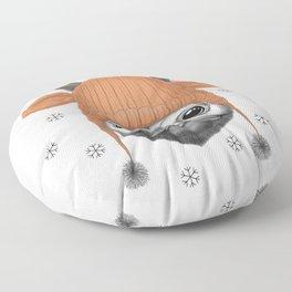 Pug Rudolph Floor Pillow