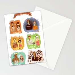 My favorite romantic movie couples Stationery Cards