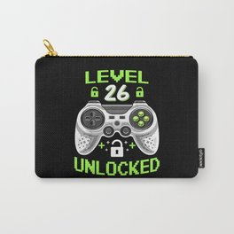Level 26 Unlocked 26 Years Old Birthday Gift Carry-All Pouch