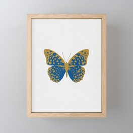 Blue Butterfly Framed Mini Art Print