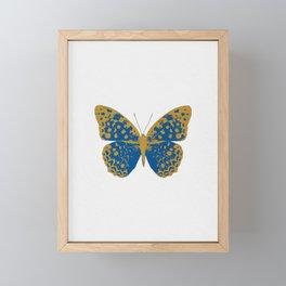 Blue Butterfly Framed Mini Art Print