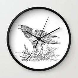 African Crow - Ria Loader Wall Clock