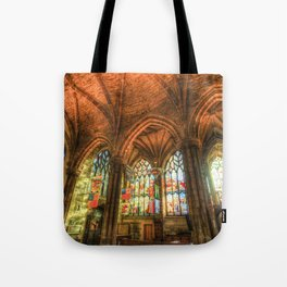 Winter Sun Cathedral Tote Bag