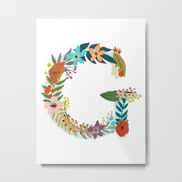 Monogram Letter G Metal Print