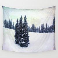 ski Wall Tapestries featuring November Ski by Amelia Vilona