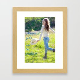 Happy and Free Girl Framed Art Print