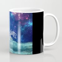 neverland Mugs featuring To Neverland by Cat Milchard