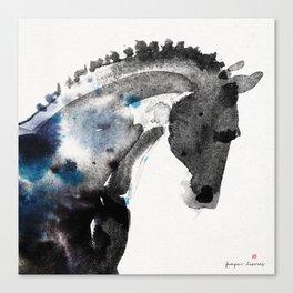 Horse (Trotter Portrait) Canvas Print