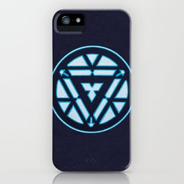 arc reactor iron man iPhone Case