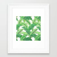 banana leaf Framed Art Prints featuring Banana for banana leaf by Indulgencedecor