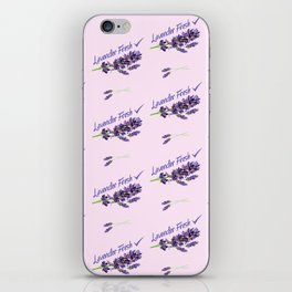 Lavender Fresh Pattern (powder pink) iPhone Skin