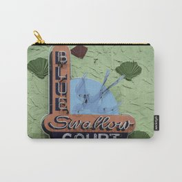 Blue Swallow Court Sign Carry-All Pouch