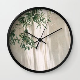 Mediterranean olive tree during morning light | Morocco travel photography | Fine art print Wall Clock