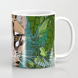 ocelot jungle green Coffee Mug