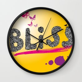 bliss. Wall Clock