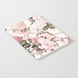 Vintage & Shabby Chic - Sepia Pink Roses Notebook