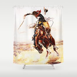 A Bad Hoss Shower Curtain