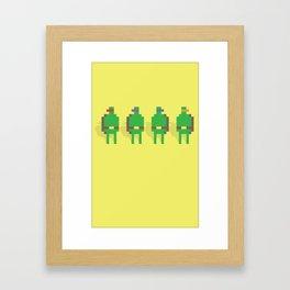 Super Turtle Brothers Framed Art Print