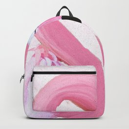 PINK FLAMINGO AND ORCHID OIL PAINTING Backpack
