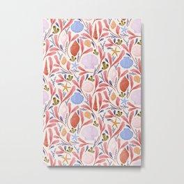 Seashells in Pink Metal Print