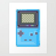 Pixel Gameboy Art Print