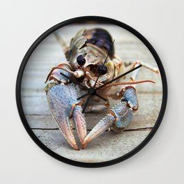 Haunting Crawfish Wall Clock