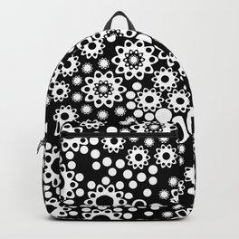Black / white fishnet Lace pattern Backpack