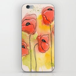 Coral Florals iPhone Skin