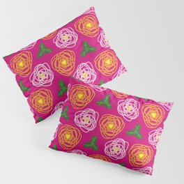 Bright pink floral Pillow Sham