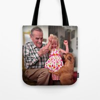 mike wrobel Tote Bags featuring Mike by Popko Studio