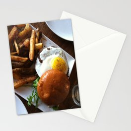 Egg burger Stationery Cards