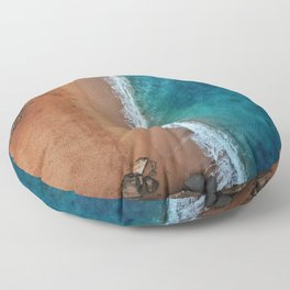 Down by the sea Floor Pillow