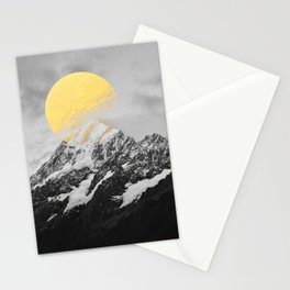 Moon dust mountains Stationery Cards