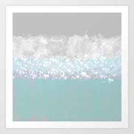 Wet Canvas Art Print
